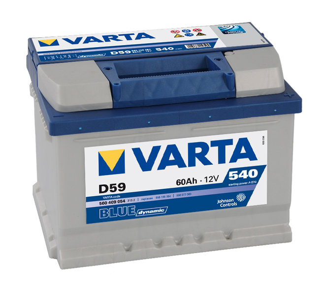 varta d59 blue dynamic autobatterie 12v 60ah der. Black Bedroom Furniture Sets. Home Design Ideas