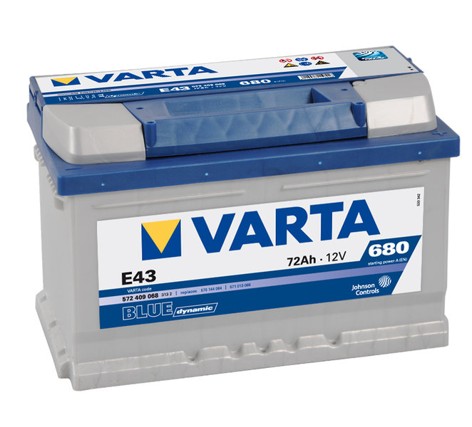 varta e43 blue dynamic autobatterie 12v 72ah der. Black Bedroom Furniture Sets. Home Design Ideas