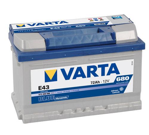 varta e43 blue dynamic autobatterie 12v 72ah 572409068. Black Bedroom Furniture Sets. Home Design Ideas