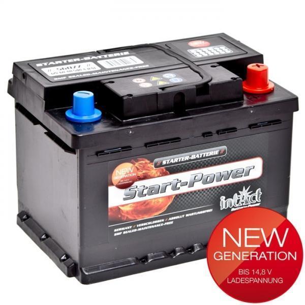 intact 56077 new generation autobatterie 12v 60ah. Black Bedroom Furniture Sets. Home Design Ideas