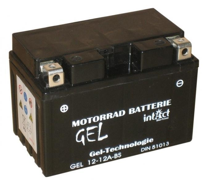 intact bike power gel motorradbatterie gel12 12a bs. Black Bedroom Furniture Sets. Home Design Ideas