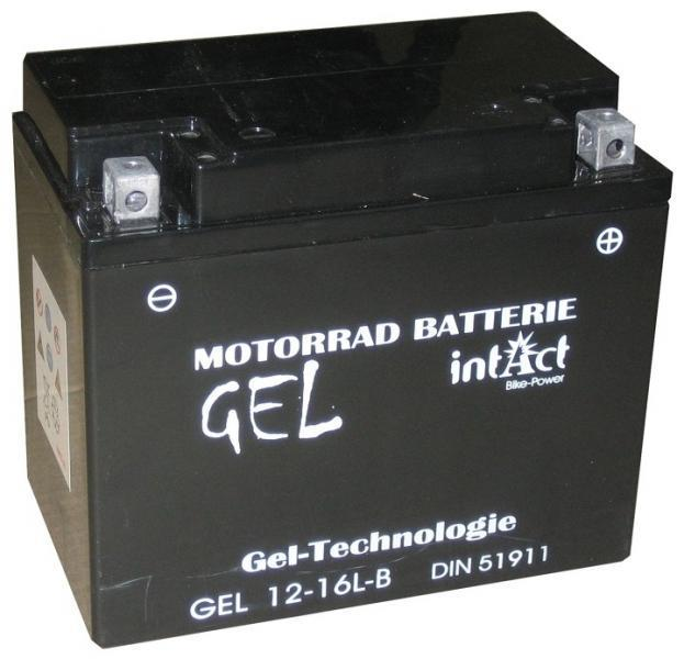intact bike power gel motorradbatterie gel12 16l b yb16l. Black Bedroom Furniture Sets. Home Design Ideas