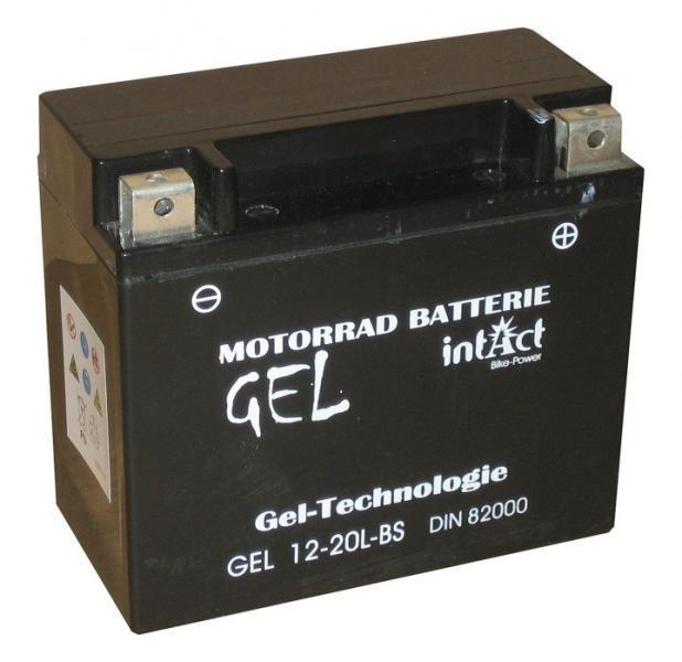intact bike power gel motorradbatterie gel12 20l bs. Black Bedroom Furniture Sets. Home Design Ideas