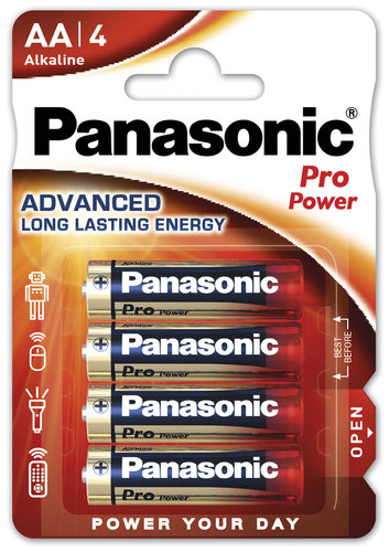 Panasonic Pro Power LR6 Mignon AA Batterie 4er Pack
