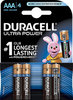 Duracell Ultra Power MX2400 Micro AAA Batterie 4er Pack