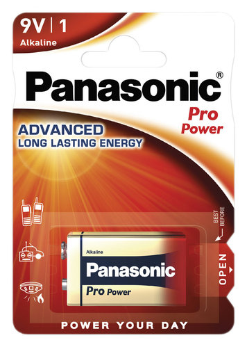 Panasonic Pro Power 9V-Block Batterie Blister