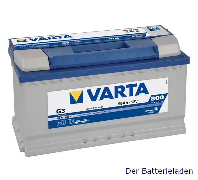varta g3 blue dynamic autobatterie 12v 95ah der. Black Bedroom Furniture Sets. Home Design Ideas